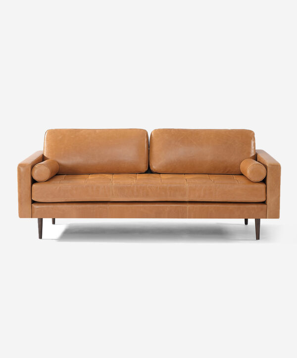 Modern Sofa 3 Seater Leather-3d