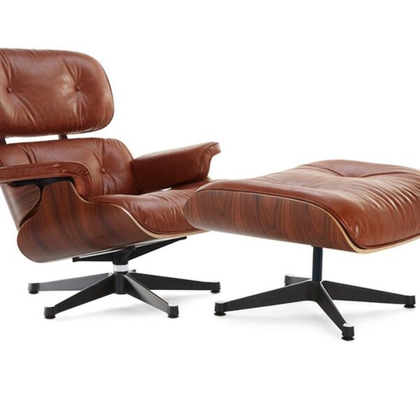 Eames lounge chair - antique brown Palisander wood