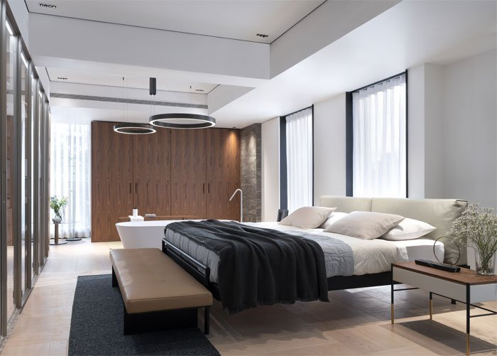 minimalist bedroom from interiorzine