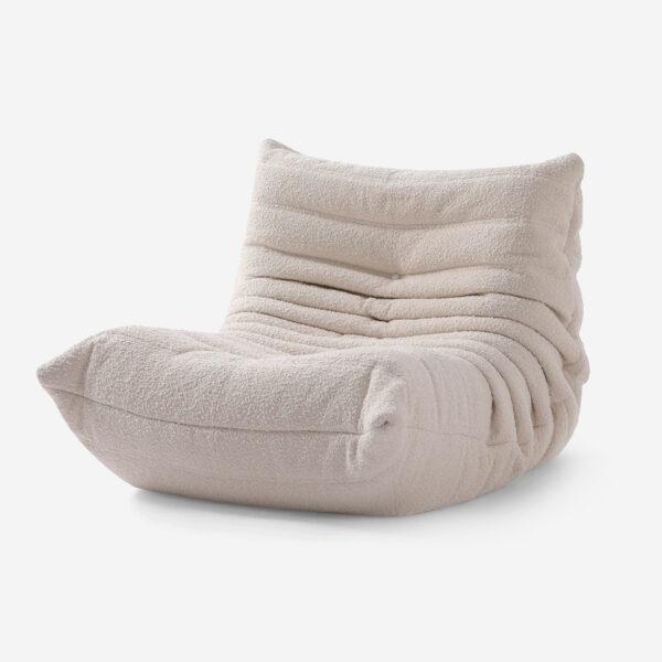 Ducaroy Fireside Chair Fabric-WHITE
