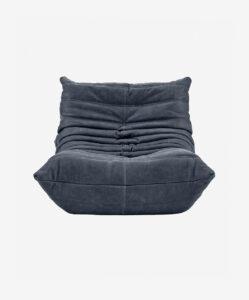 Ducaroy Fireside Chair Leather Granite