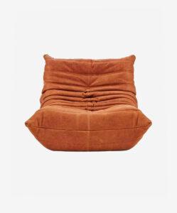 Ducaroy Fireside Chair Leather Light Brown